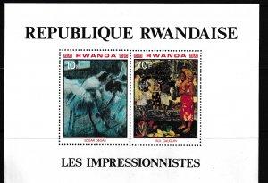Rwanda,  SW 1073-1074,  MNH,  1980,  French Impressionist,  LL02001