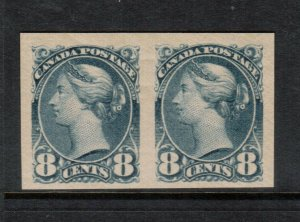 Canada #44d Extra Fine Never Hinged Imperf Pair - Light Vertical Gum Bend