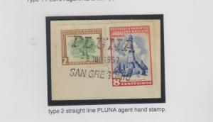 O) 1957 URUGUAY, PLUNA SAN GREGORIO, STRAIGHT LINE, ISLANDS OF SEALS-SOUTHERN SE