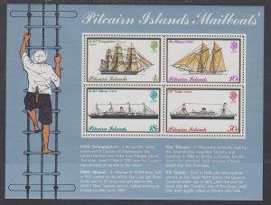 Pitcarin Islands 150a Ships Souvenir Sheet MNH VF