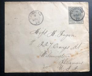 1890 Trinidad & Tobago Vintage Cover To Wilmington DE USA