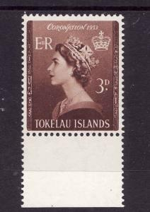 Tokelau-Sc#4-Unused NH set-QEII-Coronation-1953-