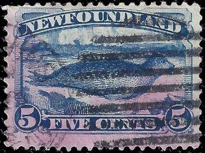 Newfoundland 1887 Sc 54 uvf stain