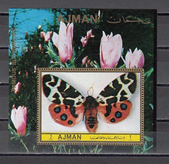 Ajman, Mi cat. 1981, BL429 A. Famous Butterfly s/sheet. ^