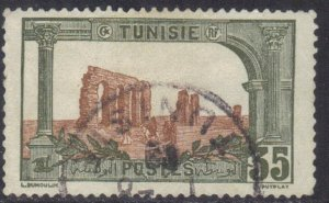 TUNISIA  SC# 43 USED  35c 1906-26  SEE SCAN