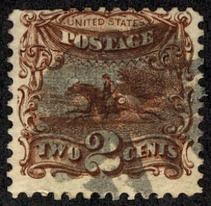 US #113 SCV $80.00 VF used, super fresh color and impression, Pony Express,  ...