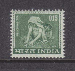 INDIA, 1965 Plucking Tea, 15np. Bronze Green, mnh.