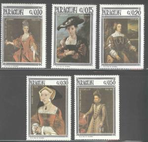 Paraguay MNH 1002a-e Portraits Of Women Art 1966