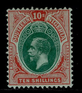 SOUTHERN NIGERIA GV SG55, 10s green and red/green, VLH MINT. Cat £48.