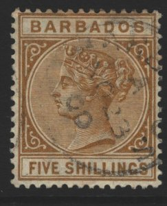 Barbados Sc#68 Full Gum CTO - very light hinge