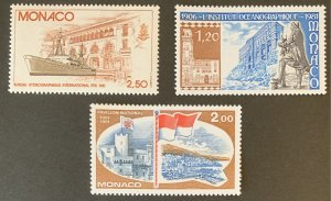 Monaco 1981 #1282-4 MNH. Culture, ships, science