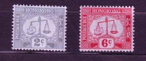 J23691 JLstamps 1938-47 hong kong mh #j6,j8 scales