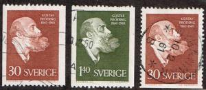 Sweden # 559 - 561 U