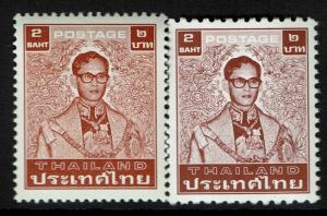 Thailand SC# 1082 and 1082a, Mint Never Hinged - Lot 010817