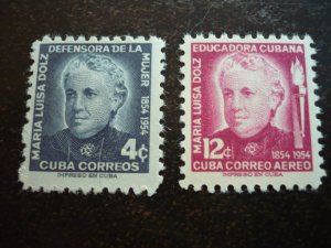 Stamps - Cuba - Scott#534,C108 - Mint Hinged Set of 2 Stamps