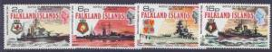 Falkland Islands 237-40 MNH Warships, Battle of the River Plate
