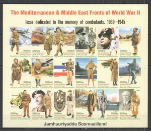 I1433 IMPERF 2011 SOMALIA MEDITERRANEAN & MIDDLE EAST FRONTS WORLD WAR II SH MNH
