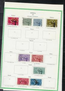 europa 1962 stamps page ref 18434