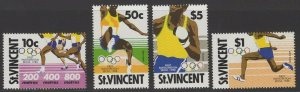 ST.VINCENT SG1153/6 1988 OLYMPIC GAMES MNH
