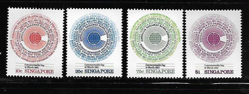 SINGAPORE, 412-415, MNH, COMMONWEALTH DAY