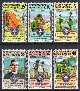 St Kitts Nevis 370-375 Boy Scouts MNH VF