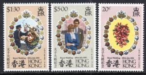 Hong Kong 373-375 Royal Wedding MNH VF