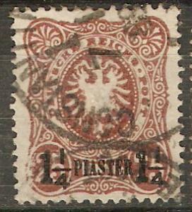 Germany Off. Turkey 5 SG 4 Used F/VF 1884 SCV $250.00