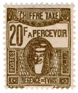 (I.B) France Colonial Postal : Tunisia Post Tax 20Fr