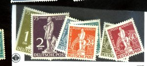 Germany #9N35-41 MINT FVF OG NH Few Lower Values Colored Offset on Gum Cat$750
