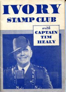 Vintage 1934 Ivory Stamp Club Stamp Book With Captain Tim Healy. Free Shipping.