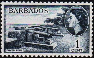 Barbados. 1953 1c S.G.289 Mounted Mint