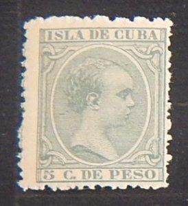 King Alfonso XIII, 1890, 5 C. De Pesto, Isla De Cuba, MC #67 (2085-Т)