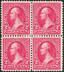 267 Mint,OG,HR... Block of 4... SCV $24.00