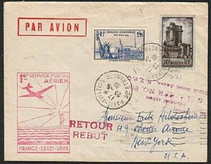 FRANCE 1939 first flight cover to New York.................................15068