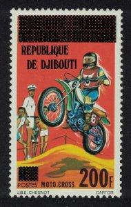 Djibouti Moto Cross Sport Motorbike Ovpt 1977 MNH SG#707