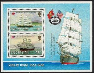 Isle of Man Manx Sailing Ships MS SG#MS389 SC#370a