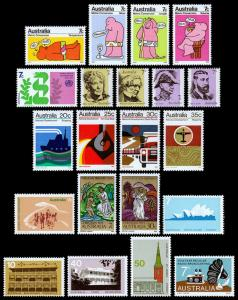 Australia Scott 541-553, 581-588 Regular Issue Year Set (1973) Mint NH VF M