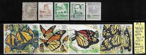 Mexico 9 mixed mini collection SCV $135.00+ - see below for cat. #s 5416..
