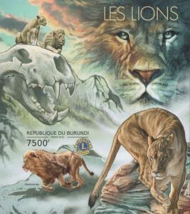 Burundi MNH S/S Lions ROAR!!!!!!! 2012