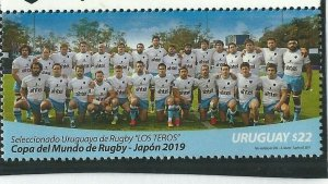 2019 URUGUAY - SG: N/A - RUGBY WORLD CUP - UNMOUNTED MINT