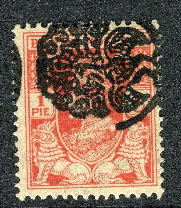 BURMA; 1942 early GVI Japanese Occ. Peacock Optd. issue Mint hinged 1p.