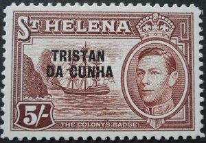 Tristan Da Cunha 1952 GVI 5/- SG 11 mint