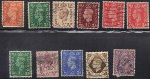 GREAT BRITAIN  STAMP LOT #4 **USED**  1937-42 KING GEORGE VI SEE SCAN