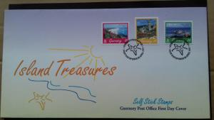 Guernsey FDC 1997 Tourism -  Intro of Self-adhesive stamps