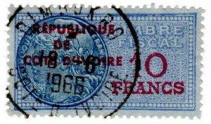 (I.B) France Colonial Revenue : Ivory Coast Duty 10Fr