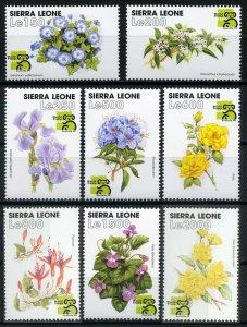 1999 Sierra Leone 3178-3185 Flowers 11,00 €