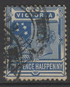 VICTORIA SG419a 1909 2½d DULL BLUE USED