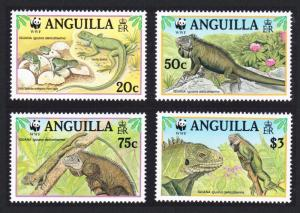 Anguilla WWF West Indian Iguana 4v SG#1004-1007 SC#968 a-d MI#988-991 CV£9.25