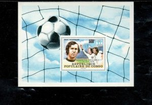 CONGO PEOPLES REP. #486 1986 WINNERS WORLD CUP SOCCER MINT VF NH O.G S/S