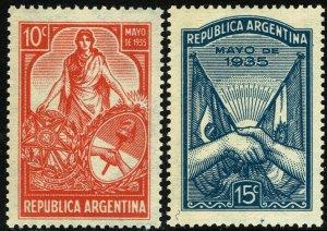 Argentina #416-17  MNH - Brazil's President Vargas (1973)